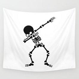 Dabbing skeleton (Dab) Wall Tapestry