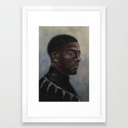 T'Challa is Judging You Framed Art Print