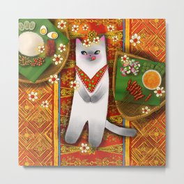 Cat Going for a Picnic series 2 Metal Print