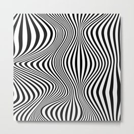 Abstract Optical Illusion Background Metal Print