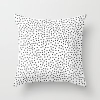 dots Throw Pillows featuring Dots.. by Priscila Peress