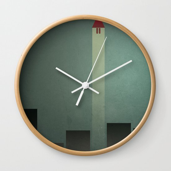 Smooth Minimal - Flying man Wall Clock