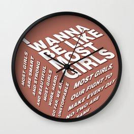 most girls Wall Clock