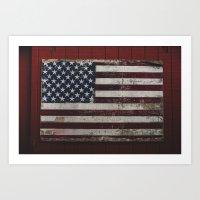 american flag Art Prints featuring American Flag by bill bill