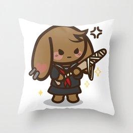 Bad Bunny Girl Lifestyle(3) Throw Pillow