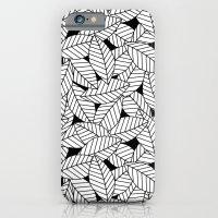 Leaves in Black iPhone 6s Slim Case