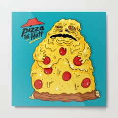 Pizza The Hutt Metal Print