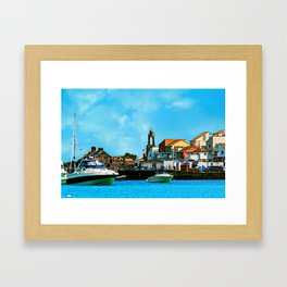 Swanage Sea View Framed Art Print