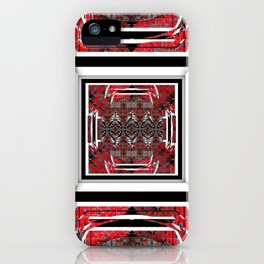 NUMBER 221 RED BLACK GRAY WHITE PATTERN iPhone Case