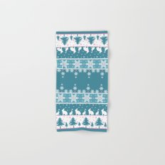 Retro .Christmas . Hand & Bath Towel