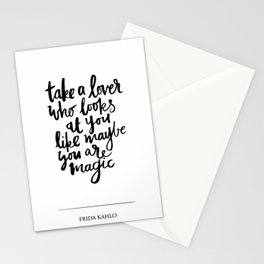 take a lover Stationery Cards