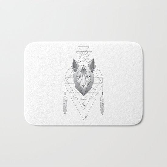 Geometric Wolf Dream Catcher Bath Mat
