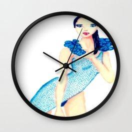 fascinating girl Wall Clock