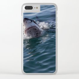 Great White Shark smiles Clear iPhone Case
