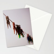 Clothespins on a rope 4496 Stationery Cards