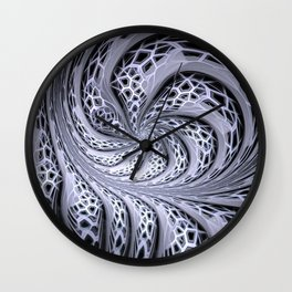 Crackles swing, fractal stuctured abstract Wall Clock