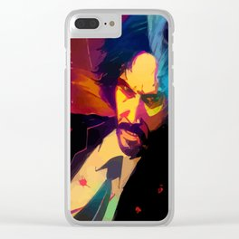 Neon John Wick Clear iPhone Case