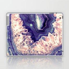 Pale Pink Indigo Teal Quartz Crystal Laptop & iPad Skin