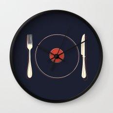 Vinyl Food Wall Clock
