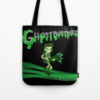 ghostbusters Tote Bags featuring Ghostbusters by Glopesfirestar