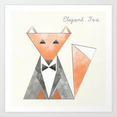 Elegant Fox Art Print