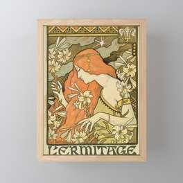 Ermitage Art Nouveau Magazine Framed Mini Art Print