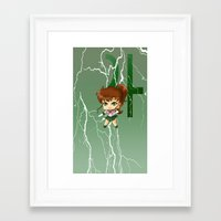 sailor jupiter Framed Art Prints featuring Sailor Jupiter by artwaste