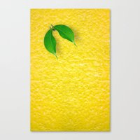 lemon Canvas Prints featuring Lemon by Diego Tirigall