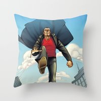 dracula Throw Pillows featuring Dracula by Eco Comics