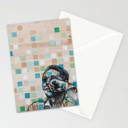 Checker Face Stationery Cards
