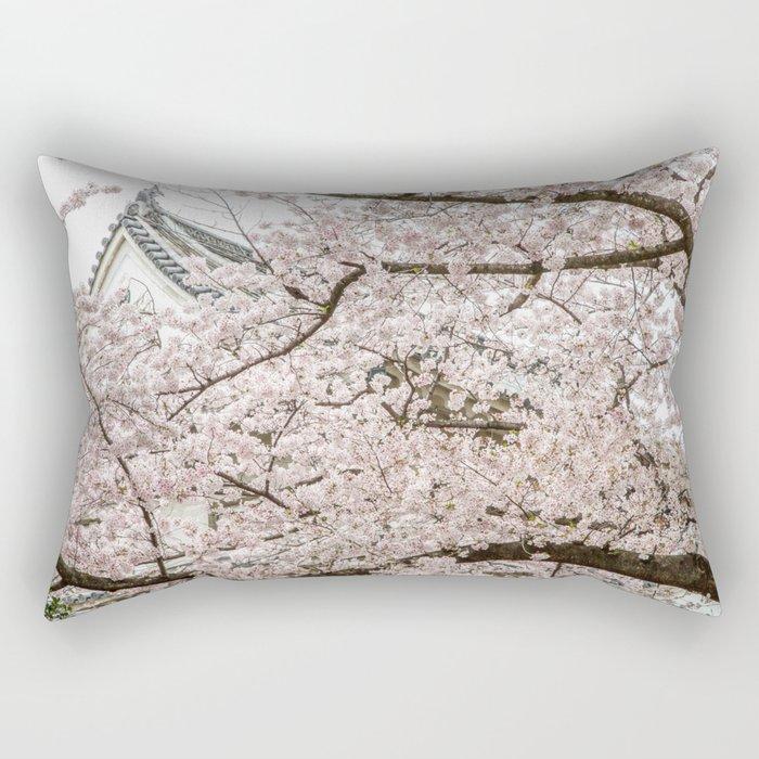 Cherry Blossoms in Osaka Japan Rectangular Pillow