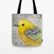 Yellow Warbler Tilly (Vintage Edition) Tote Bag