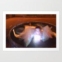 Crystal ball of light Art Print
