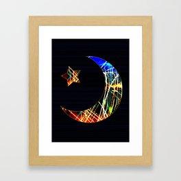 Night Light - Star and Moon Framed Art Print