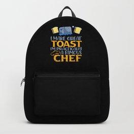 Sandwich Toast Vegan Vegetarian Humor Backpack