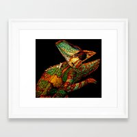 karma Framed Art Prints featuring KARMA CHAMELEON by Catspaws