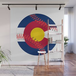 Colorado Flag Baseball Wall Mural