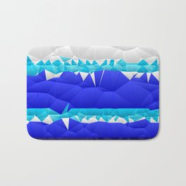 Nautical Inspired Quilted Pattern Design Bath Mat
