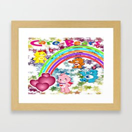 Care Bears Rainbow and Stars Framed Art Print