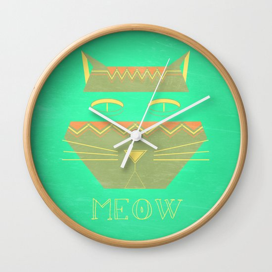 almost in cognito meow Wall Clock
