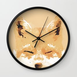 Smiling Fox Wall Clock