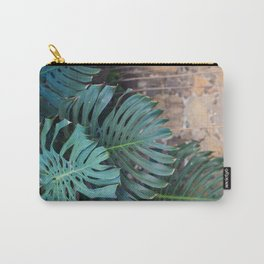 Monstera Print, Tropical Green Beauty Carry-All Pouch