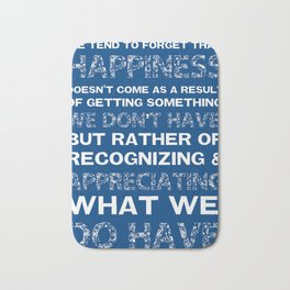 Happiness Bath Mat
