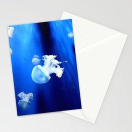 Underwater Jellyfish Blue Stationery Cards