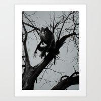 werewolf Art Prints featuring Werewolf by Alex Perkins
