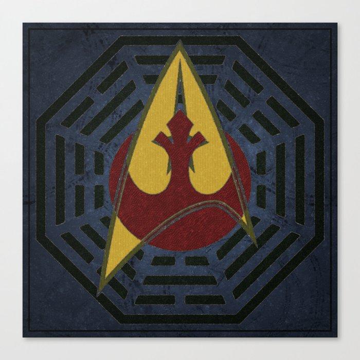 Lost Trek Wars: Square Variant Canvas Print