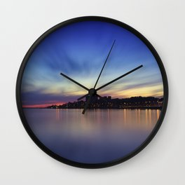Sunset over Porto. Foz do Douro, Porto, Portugal. Wall Clock