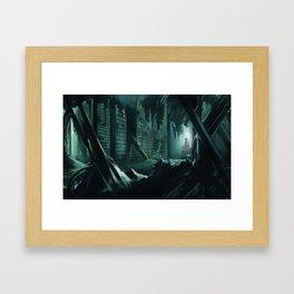 Drowned city Framed Art Print