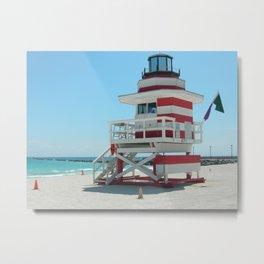 lifeguard shack 2 Metal Print
