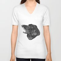 best friend V-neck T-shirts featuring Best Friend by Moose Art